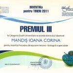 Premiul III Inventika pentru tineri 2011