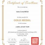 Medalia de aur WIIPA 2016