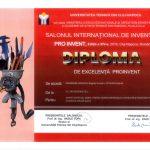 Diploma de excelență PROINVENT 2016