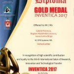 Medalia de aur INVENTICA 2017