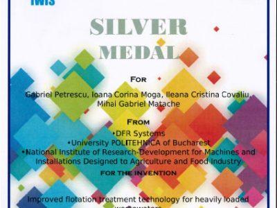 Medalia de argint Euroinvent - 2017