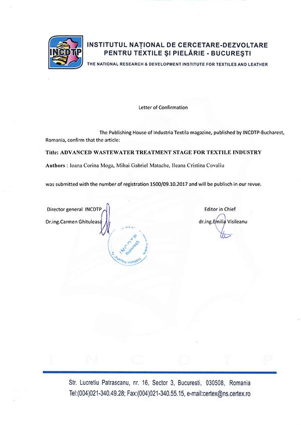 Scrisoare de confirmare