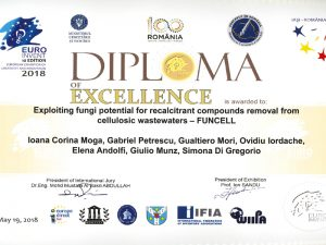 Diploma of Excellence at the EUROINVENT 2018 Salon