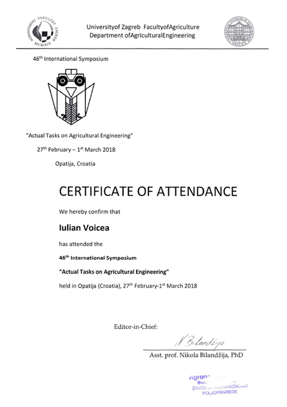 ATAE-2018 — Certificate of Attendance