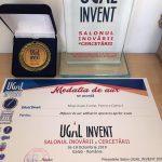 Medalia de aur – UGAL INVENT 2019