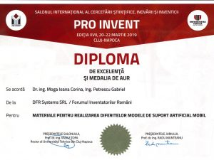 Gold Medal – PROINVENT 2019