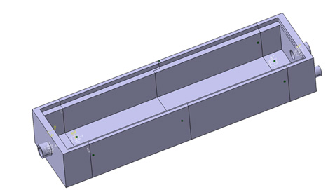 Three-dimensional CAD model of the diffuser cassette