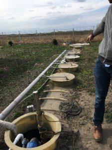 Municipal sewage treatment plant - buried